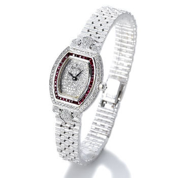 ORION維多利亞白18K金鑽錶