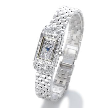 ORION巴洛克18K白金梯鑽錶