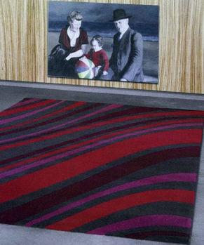 【范登伯格】 威雀活潑線條設計現代感個性地毯140x200cm