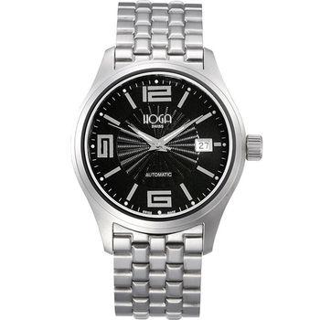 HOGA復古美感鈦金屬機械錶-黑-40mm