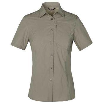 【聖伯納 St.Bonalt】女款3M速乾排汗彈力短袖襯衫-卡其(4057)
