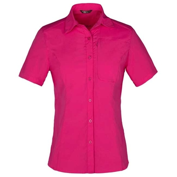 【聖伯納 St.Bonalt】女款3M速乾排汗彈力短袖襯衫-梅紅(4057)