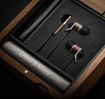 Chord&Major 台灣精品 全木製 創新音樂技術 好音質 爵士音樂調音 7'13調性 入耳式耳機 附精美收納盒