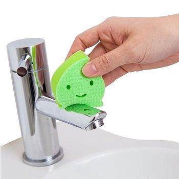 日本製造AISEN黏貼式洗臉台水滴海綿刷(1包3入) 2包裝