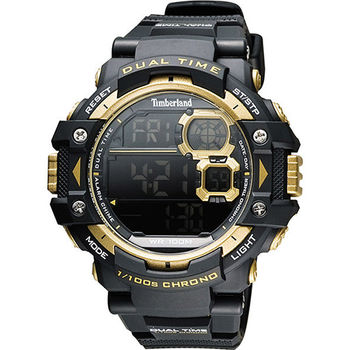 Timberland TUXBURY系列多功能數位腕錶-黑 TBL.14260JPB/02A
