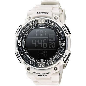 Timberland CADION 系列多功能數位腕錶-白 TBL.13554JPGY/02