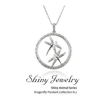【炫麗珠寶】雙舞蜻蜓 925純銀墜飾