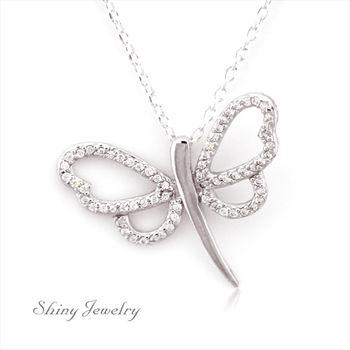 【炫麗珠寶】春之蜻蜓 925純銀項鍊