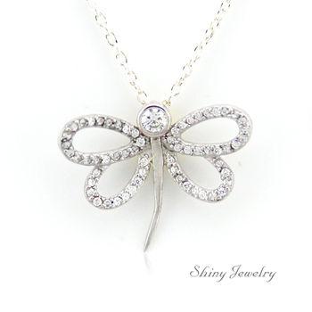 【炫麗珠寶】夏之蜻蜓 925純銀項鍊