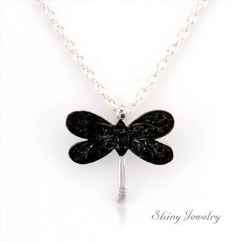 【炫麗珠寶】蜻蜓飛舞 純銀項鍊