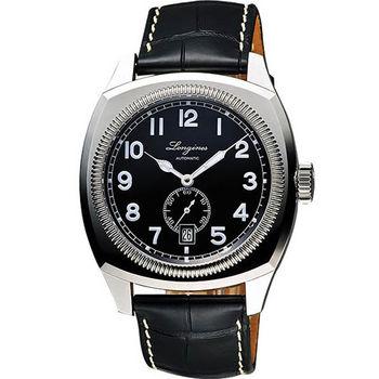 LONGINES Heritage 1935 復刻經典小秒針機械腕錶-黑/42mm L27944532