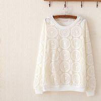 Moriya精緻刺繡寬鬆蕾絲衫FD232