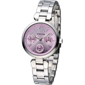 星辰 CITIZEN WICCA 英倫龐克風時尚腕錶 BH7-415-91 粉色
