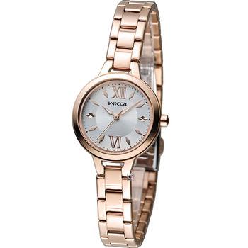 星辰 CITIZEN WICCA 英倫風優雅時尚腕錶 BG3-724-11 玫瑰金色