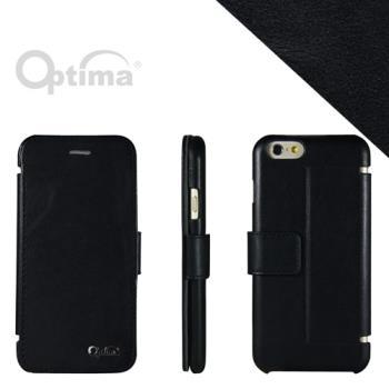 Optima iPhone 6 側掀站立型皮套 真皮系列-黑