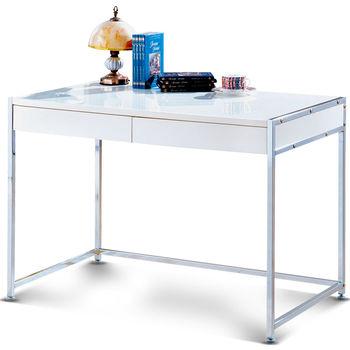 【日式量販】簡約設計3.4尺純白書桌(含活動櫃)