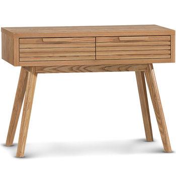 【日式量販】歐風極簡設計款3.3尺實木書桌