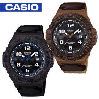【CASIO 卡西歐】潛水風格- 太陽能-帆布錶帶運動錶(MRW-S300HB)