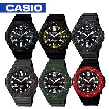 【CASIO 卡西歐】潛水風格_太陽能運動腕錶(MRW-S300H)