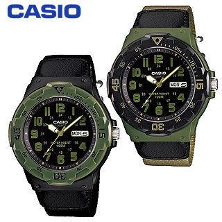 【CASIO 卡西歐】日系-帆布指針型潛水男錶_鏡面4.4cm(MRW-200HB)
