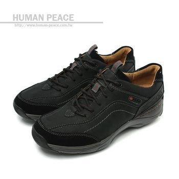 Clarks SKYWARD VIBE 皮革 網布 舒適 氣墊 抗震 戶外休閒鞋 黑 男款 no592