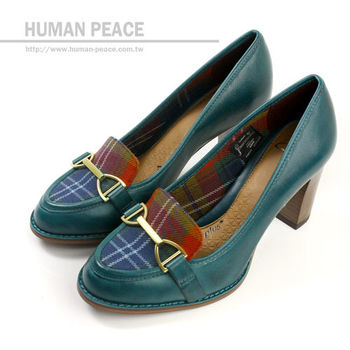 Clarks ALFRESCO CAFE 皮革 格紋 舒適 高根 上班族 戶外休閒鞋 藍 女款 no576