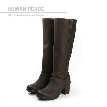 Clarks Merrigan Akita 皮革 柔軟 舒適 長靴 戶外休閒鞋 咖啡 女款 no649