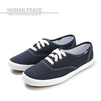 Keds 帆布鞋面 橡膠鞋底 舒適 基本款 戶外休閒鞋 海軍藍 女款 no004