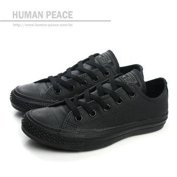 CONVERSE Chuck Taylor All Star Leather 皮革 經典款 舒適 低統 戶外休閒鞋 黑 男女款 no112