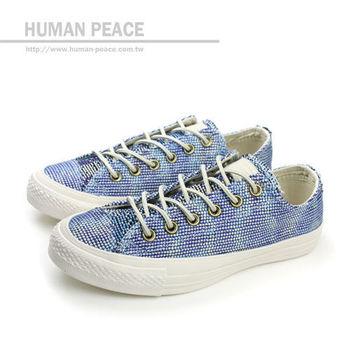 CONVERSE Chuck Taylor All Star 紡織布鞋面 繽紛 舒適 戶外休閒鞋 藍 女款 no104