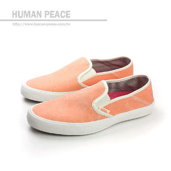 VANS Comina 帆布 舒適 素面 柔軟 好穿脫 懶人鞋 戶外休閒鞋 橘 女款 no386