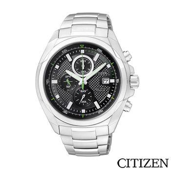 CITIZEN 星辰 ECO-Drive 超級鈦金屬計時腕錶 CA0190-56E