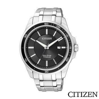CITIZEN 星辰 GENTS 光動能超級鈦紳士腕錶 BM6921-58E