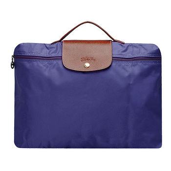 LONGCHAMP 方型手提式電腦包(紫晶)2182089-958