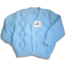 【FINE】男女童手鉤毛衣外套(M/L)(0322) 75%羊毛25%混紡黃色