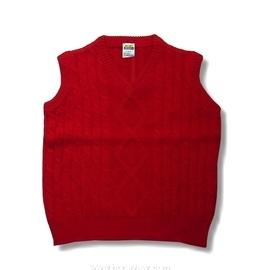 【MIMIGOGO】 (0129) 50%羊毛 50%混紡 男女童羊毛背心_米白色