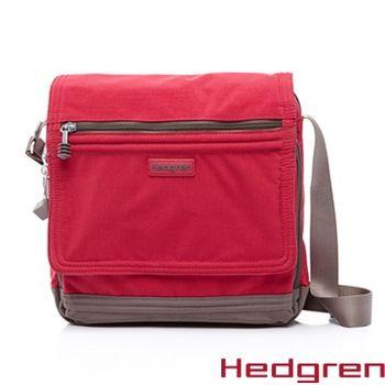 【HEDGREN】HGA-Great American 偉大美國系列 -方型郵差包-桃紅色