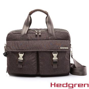 【HEDGREN】HCAR -Carrier企業家系列-斜背手提兩用電腦包-棕色