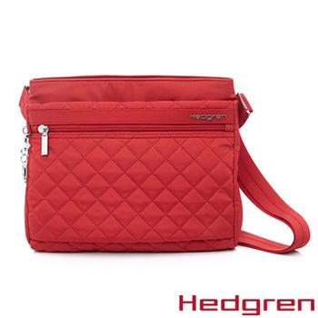 【HEDGREN】HDIT -Diamond 鑽石系列-多夾層側背包-紅色