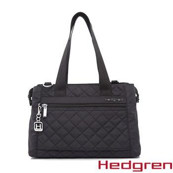【HEDGREN】HDIT -Diamond 鑽石系列-多夾層兩用側背包-黑色