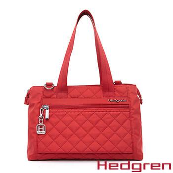 【HEDGREN】HDIT -Diamond 鑽石系列-多夾層兩用側背包-紅色