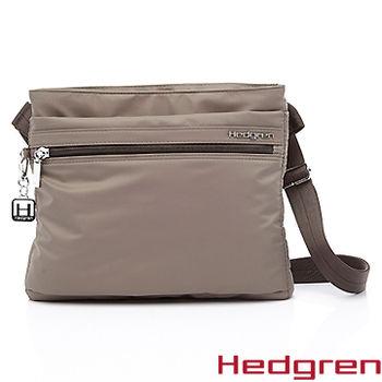 【HEDGREN】HIC -Inner City 都會系列-多夾層側背方包-褐色