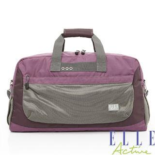 【ELLE】Fish Net 漁網系列-旅行袋(紫色)