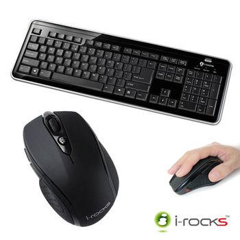 i-Rocks  RF6170S無線2.4GHz電腦鍵盤滑鼠組(黑)