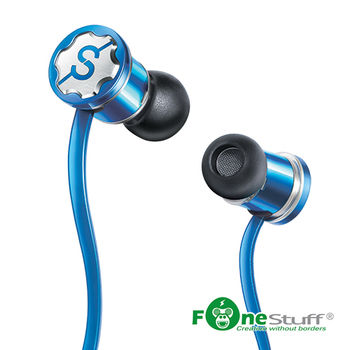 Fonestuff瘋金剛 Fits抗噪重低音耳道式耳機(藍)