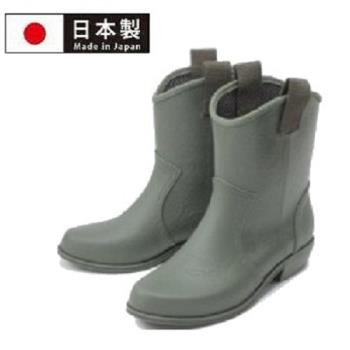【Charming】日本製【個性馬靴式雨鞋】-軍綠色-800