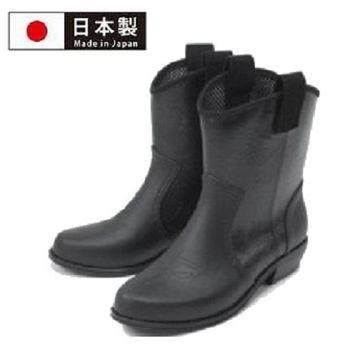 【Charming】日本製【個性馬靴式雨鞋】-黑色-800