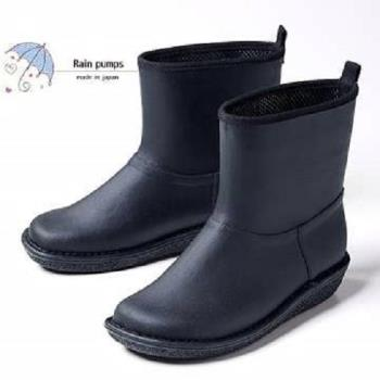 【Charming】日本製 【個性雪靴雨鞋】-黑色-712