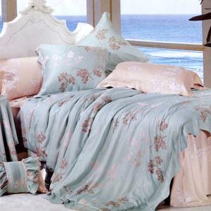 贈*【幸運草】飄香倩影 嫩柔天絲雙人八件式床罩組