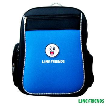 【LINE FRIENDS】MIT元氣護脊書背包 (B款_眨眼饅頭人)
